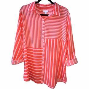 Charter Club Pencil Stripe Button Down Shirt